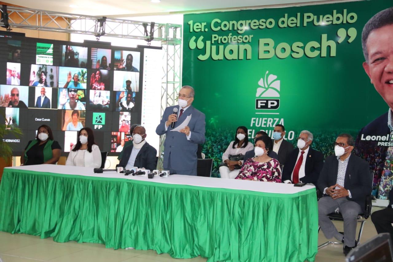 Registran  11, 526 participantes en congreso  de la Fuerza del Pueblo