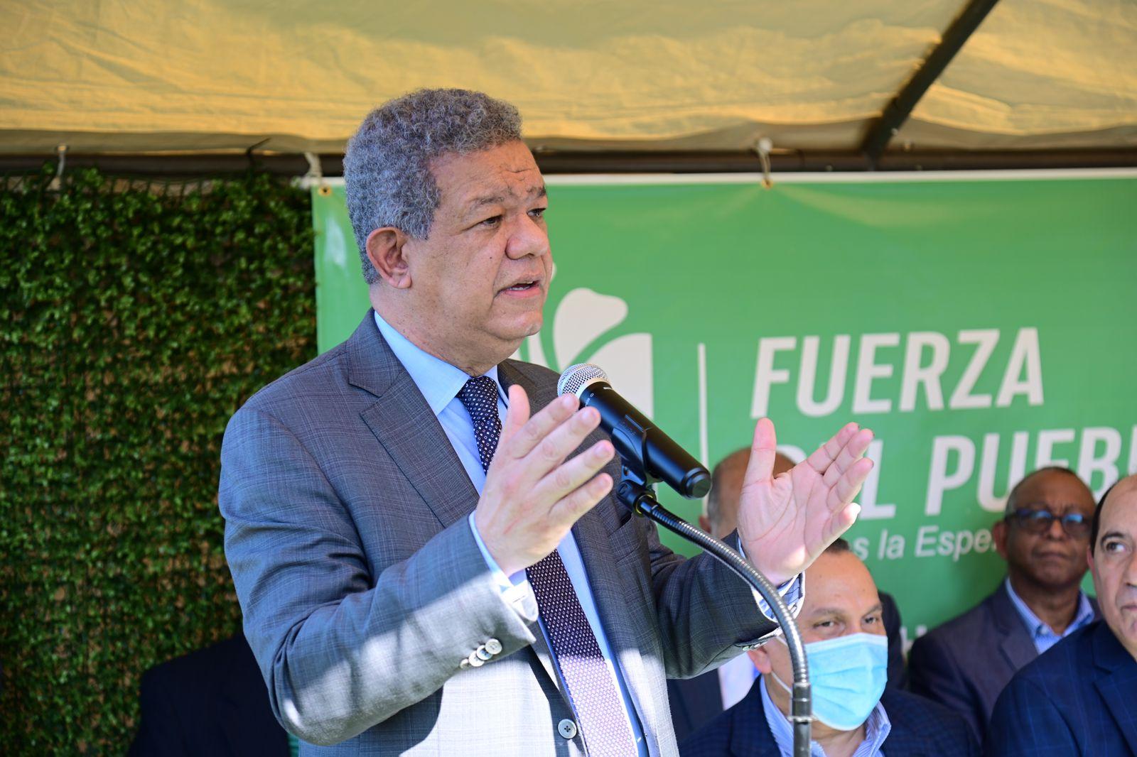 Leonel: «En la Fuerza del Pueblo, jamás va a penetrar el dinero del narcotráfico»
